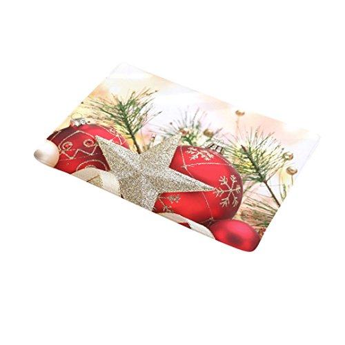Gaddrt Weihnachten Home Rutschfeste Tür Fußmatten Hall Teppiche Küche Bad Teppich Decor (K)