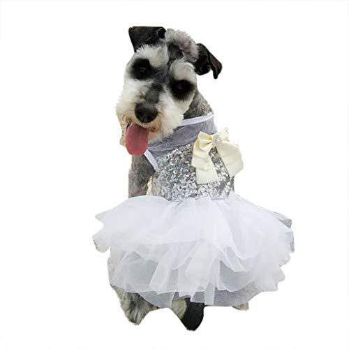 Schuhe Kostüm Bow - Prinzessin Dress Tutu Queen Style, Hawkimin Hundebekleidung, Sommer Herbst Haustier Kostüm Kleine Hund Shirt Atmungsaktive Welpen Weste Puppy Hochzeit Bequeme Stickereispitze Bow Kleid