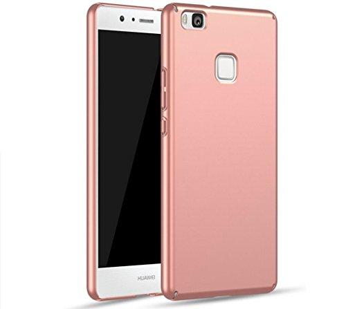 EIISSION Case Kompatibel mit Huawei P9 Lite Hülle, Hardcase Ultra Dünn Huawei P9 Lite Schutzhülle aus Hart-PC Case Cover Handyhülle für Huawei P9 Lite (Rose Gold)