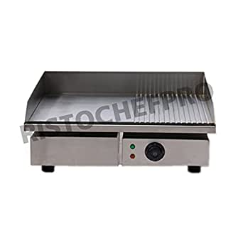 Piastra elettrica in acciaio inox professionale fry top for Piastra amazon