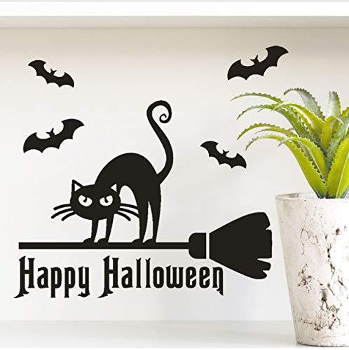 asd137588 Wandtattoo Happy Halloween Knochen Wandaufkleber Fenster Dekoration Abziehbild Dekor Halloween Dekoration Horror ()