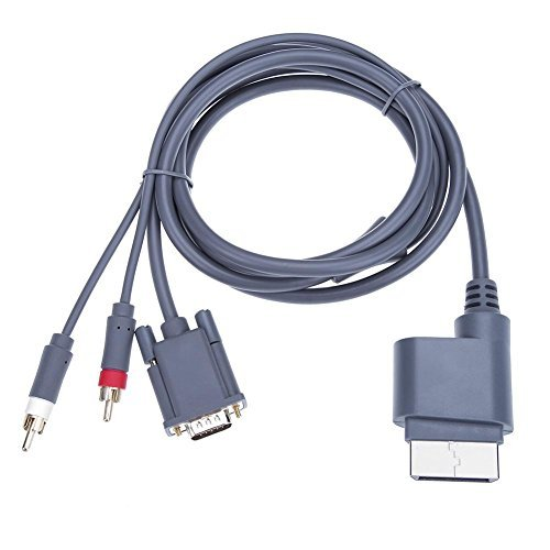 UEB VGA + 2 RCA Video Port Adapter Cable for Xbox 360 Game Console