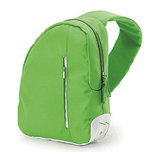 Zaino INVICTA - Mono Shoulder B-color - tempo libero monospalla Green & White 5 LT
