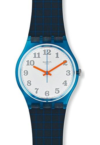 Swatch Damen-Armbanduhr Analog Quarz One Size, weiß, blau