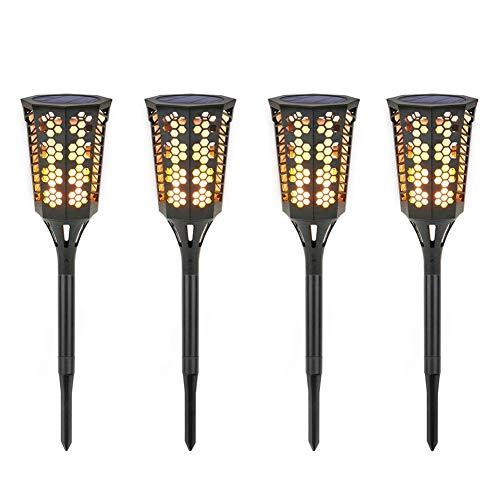 VROSE FLOSI Outdoor Solar LED Flickering Flame Garten Landschaft Licht Wandleuchte (4pcs) Gartenstrahler Rasen Licht -