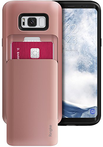 coque-samsung-galaxy-s8-ringke-access-wallet-svelte-double-detenteur-de-carte-rose-or-slot-de-diapos