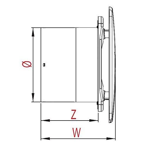 Ecru cuisine salle de bain mur hotte aspirante 100mm Awenta standard style linea