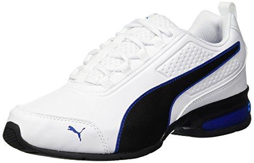 Puma leader vt sl, scarpe running unisex-adulto, bianco white-turkish sea, 42 eu