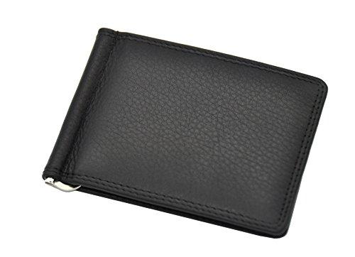 echt Leder Dollar Clip Geldklammer Kreditkartenetui mit RFID -