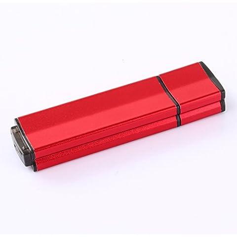 lalakie® Metallo ad alta velocità USB 3.0Flash pen drive pendrive memory stick da 128GB (Rosso)
