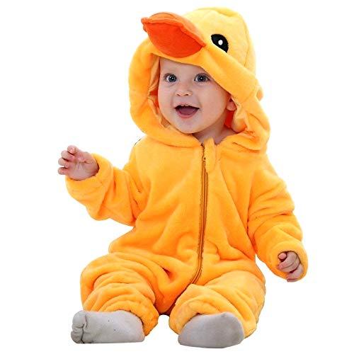 Costume papera - morbido peluche - pile - tuta - tutina da paperotto - travestimento - carnevale - halloween - bambina - bambino neonato - idea regalo natale compleanno - 6-12 mesi