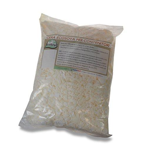 Cera ecosoya per contenitori - 1 kg
