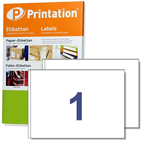 Versand- Adressetiketten A5 200 Stk. 210 x 148,5 mm weiß selbstklebend - 200 DIN A5 Bogen à 1x1 210x148mm - 6135 8690