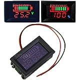 Tiyee - Tensiómetro digital LED de 12 V resistente al agua con plomo ácido/polímero