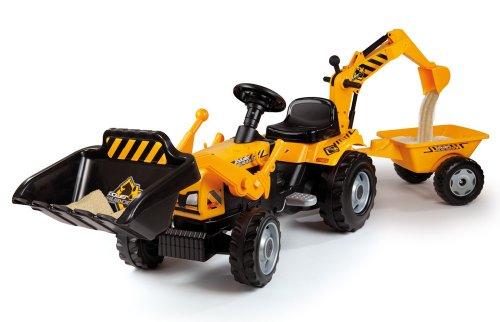 Smoby 7600033389 - Builder Max Traktor mit Anhänger