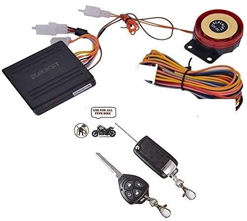 KunjZone Motorcycle/Bike Alarm Security System Button Remote Key Anti-Theft Alarm Universal