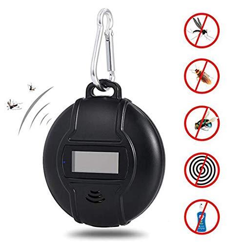 Massage Répulsif Solaire Portable répulsif Contre Les Insectes répulsif Anti-Moustique extérieur Sonic Sonic avec Chargement Compass Solaire USB
