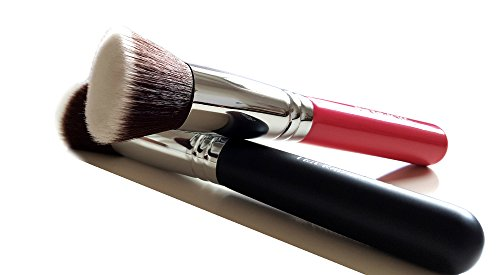 Make Up Brush Foundation Kabuki Flat Top - Perfect For Blending Liquid, Cream or Flawless Powder Cosmetics - Buffing, Stippling, Concealer - Premium Quality Synthetic Dense Bristles