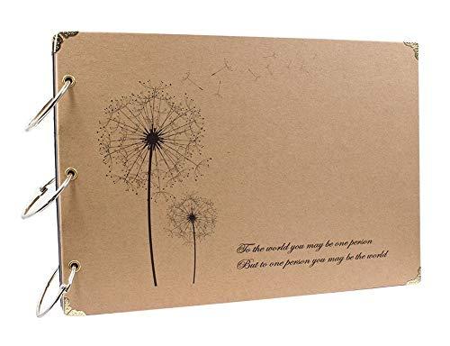 ThxMadam Selbstgestalten Fotoalbum Scrapbook Album Hochzeit Gästebuch DIY Vintage Schwarze Seiten Fotobuch für Weihnachten Geburtstag Jahrestag Geschenk für Mutter Frau Mann Freund
