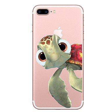 Handy-Hüllen & Hüllen, Fall für Apfel iphone 7 7 plus Fallabdeckung Schildkröte Muster gemaltes hohes penetration tpu Material weicher Falltelefonkasten für ( Kompatible Modellen : IPhone 8 Plus ) (I Phone 5c-schildkröten-fall)