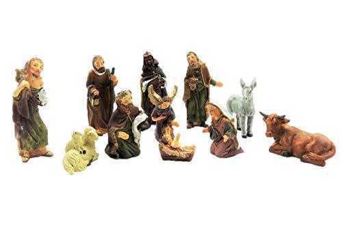 Unbekannt set di statuette per presepe, 11 pezzi, fino a 7 cm