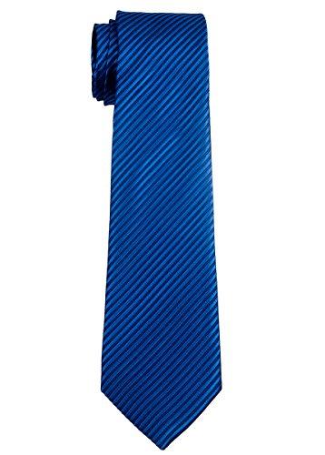 Retreez Jungen Gewebte Krawatte Textur Gestreifte - 8 - 10 Jahre - königsblau