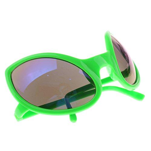 ien-Sonnenbrille Spaßbrille Party Brille für Erwachsene Kinder - Grün (Lustige Alien-kostüm)