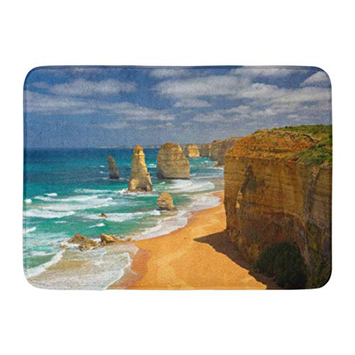 LIS HOME Badematte Australian Blue Horizon Zwölf Apostel Great Ocean Road Australien Gelb Sunny Beauty Badezimmer Dekor Teppich