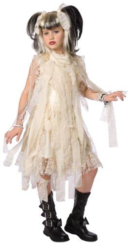 Generique Gotic Mumien Kostüm für Mädchen 110 (3-5 Jahre)