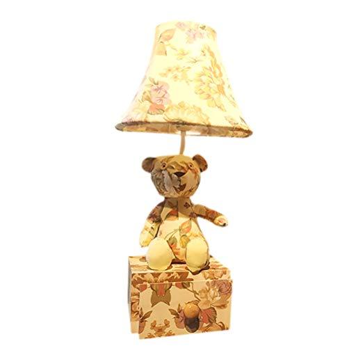 Missley Kreativ Bär Nachttischlampe Lustig Tier Nachtlicht Auge Schutz Tischlampe mit Schublade Box Geschenke zum Kinder Frau Senioren (Senior Frau)