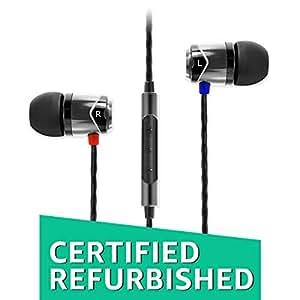 (Certified REFURBISHED) SoundMagic E10C in-Ear Headphones with Mic (Gunmetal)