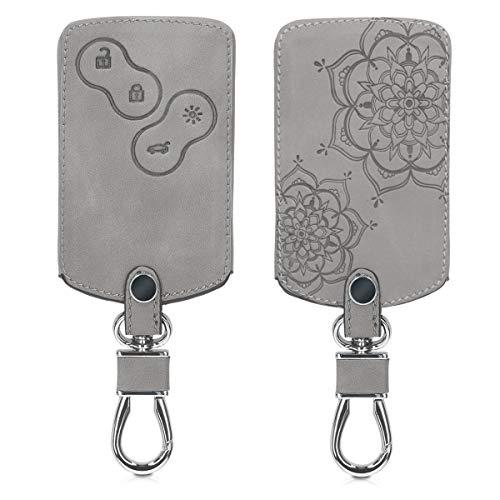 kwmobile Autoschlüssel Hülle für Renault - Nubuklederoptik - Kunstleder Schutzhülle Schlüsselhülle Cover für Renault 4-Tasten Autoschlüssel Karte (nur Keyless Go) -