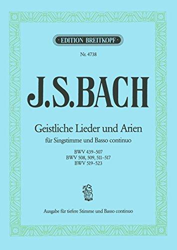 Geistliche Lieder und Arien für Singstimme und Klavier (EB 4738)