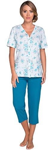 Italian Fashion IF Femme Ensemble de Pyjama Hedwig 0225 Turquoise