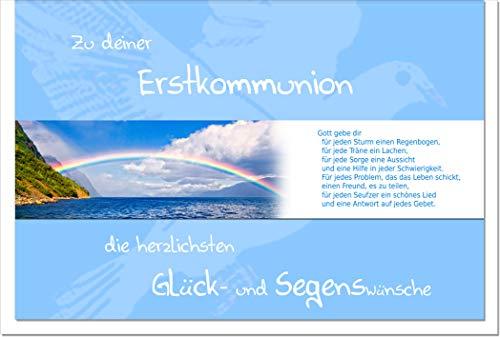 metALUm Karte zur Kommunion REGENBOGEN | 1011034S