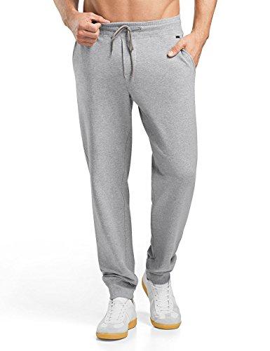 Hanro Herren Sporthose Living Leisure Hose lang, Grau (Grey Melange 1036), 52 (Herstellergröße: L)