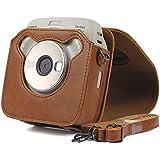 para FUJIFILM Instax Cuadrado SQ20 cámara PU Bolsa de Cuero Caso Vintage Correa para el Hombro Bolsa cámara Lleva Cubierta de