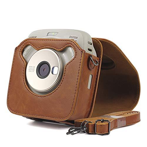 Étui en Cuir PU pour Appareil Photo Fujifilm Instax Square SQ20 avec bandoulière Vintage