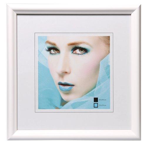 HR-22 Bilderrahmen Holz Rahmen 20x20 30x30 40x40 50x50 quadratisch Fotorahmen: Farbe: Weiß | Format: 40x40