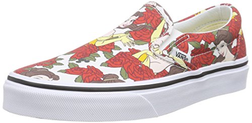Vans U Classic Slip-on Disney, Unisex-Erwachsene Sneakers Mehrfarbig ((Disney) Belle/True white)