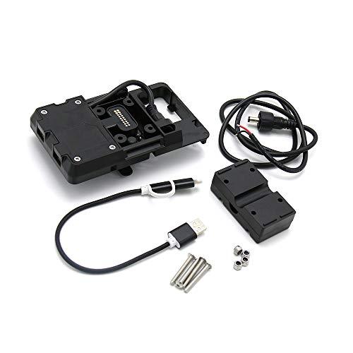 KKmoon Accesorios de soporte de navegación para teléfono móvil con cargador USB...
