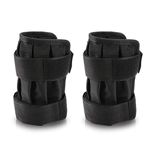 Fictory Gewicht-Bänder - 1 Paar beladenes belastetes Gewicht des Sprunggelenks justierbares gewichtetes Fußgelenk-Übungs-Trainingsgerät