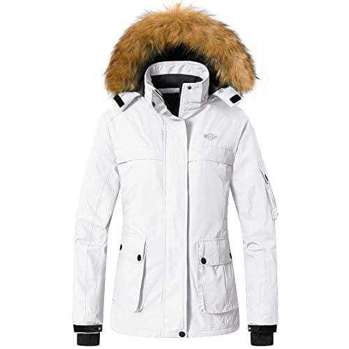 41njTjfktZL. SS500  - Wantdo Women's Hooded Waterproof Outdoor Winter Ski Jacket