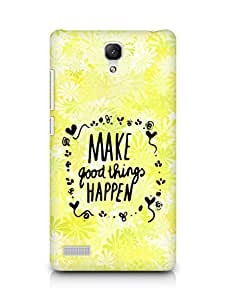 AMEZ make good things happen Back Cover For Xiaomi Redmi Note