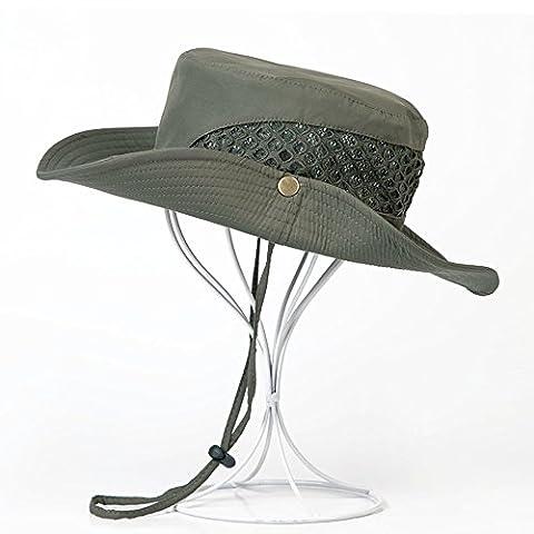 Homme Chapeau de Pêche Large Bord ANTI-UV Chapeau Brousse Casquette Bordure Ronde Sun Hat Protection Anti-Soleil Séchage Rapide Bonnet Pour Randonnée/ Camping/ Chasse/ Hiking/ Activités Extérieurs