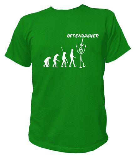 Artdiktat T-Shirt Offenbacher Evolution Unisex, Größe XL, grün