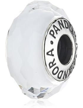 Pandora Damen-Charm 925 Sterling Silber Muranoglas weiß 791070