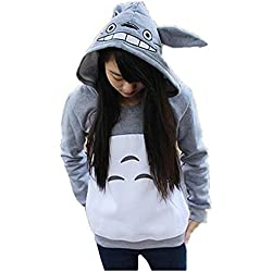 hqclothingbox Cartoon Anime Totoro Casual Hoody Sweatshirt for Teens