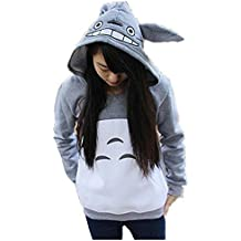 hqclothingbox Cartoon Anime Totoro Casual Hoody Sweatshirt