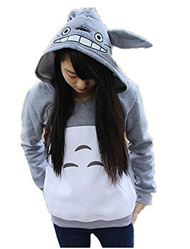 hqclothingbox Cartoon Anime Totoro Casual Hoody Sweatshirt for (Natale Felpa Con Cappuccio)